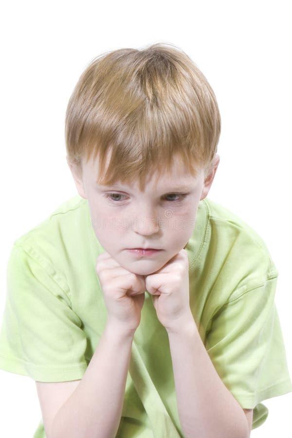 Enfant avec l'expression image stock