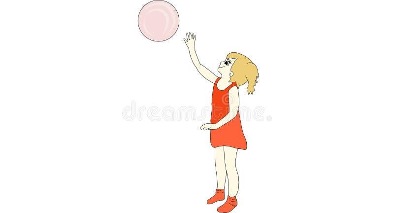 Enfant avec la boule illustration de vecteur