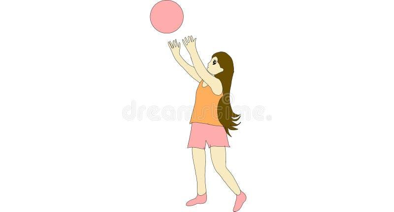 Enfant avec la boule illustration stock