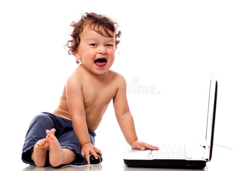 Enfant avec le cahier. illustration de vecteur