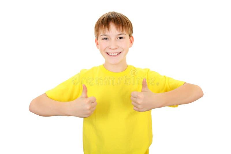 Enfant avec le geste CORRECT photo stock