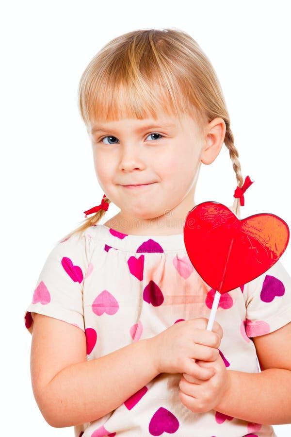 Enfant avec le lollypop images libres de droits