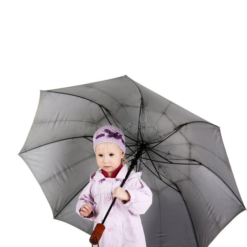 Enfant avec le parapluie images libres de droits