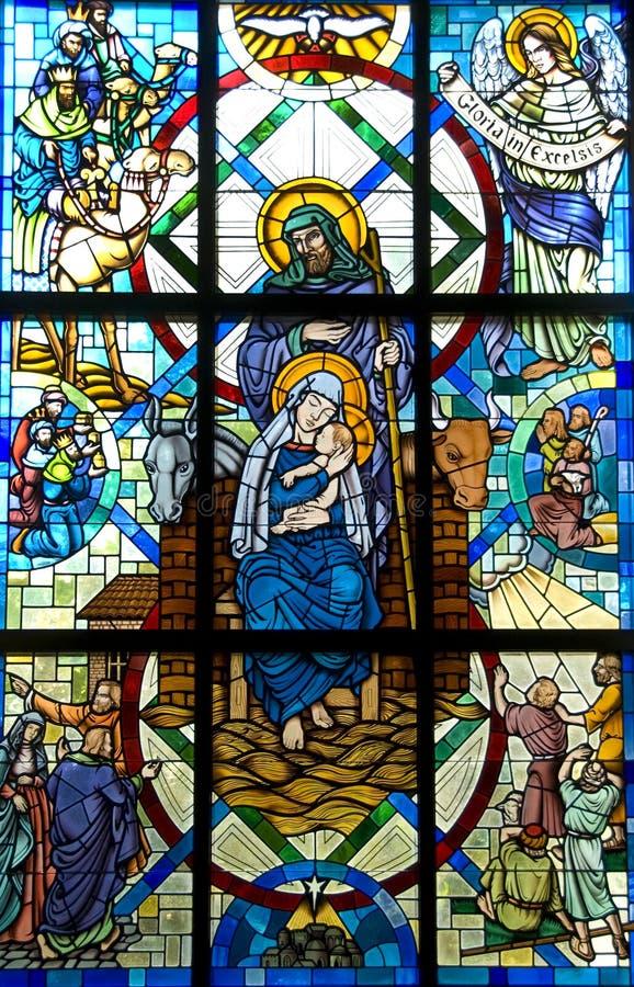 Enfant béni Jésus et Joseph de mère images stock