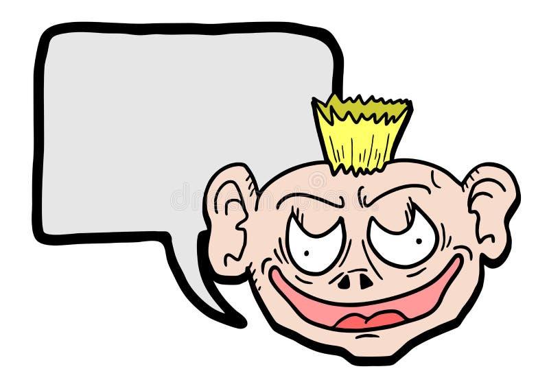 Enfant bavard illustration stock