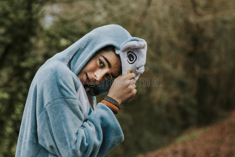 Enfant déguisé photographie stock