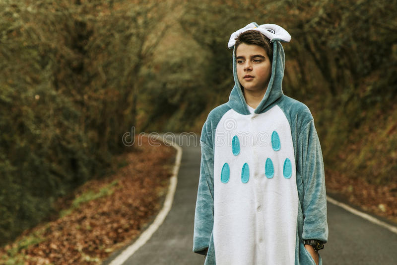 Enfant déguisé photo stock