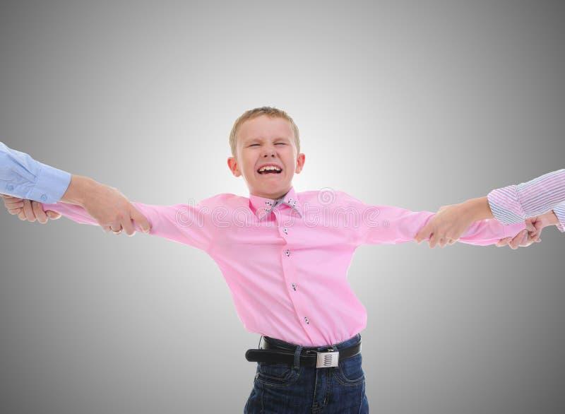 Enfant d'action de parents. photo stock