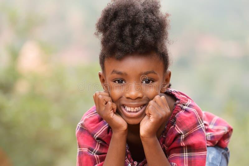Enfant d'Afro photo stock