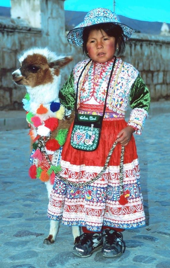 Enfant d'Amerindian image libre de droits
