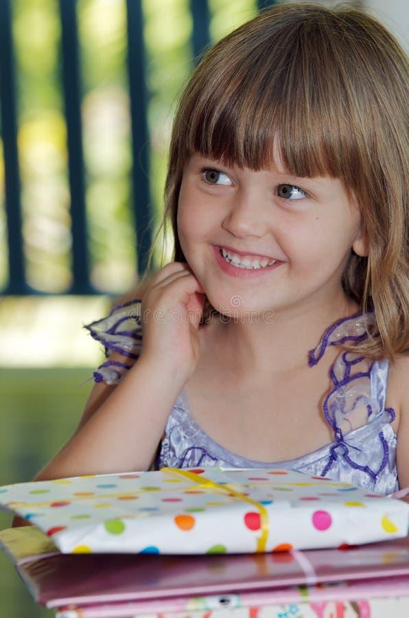 Enfant d'anniversaire photographie stock