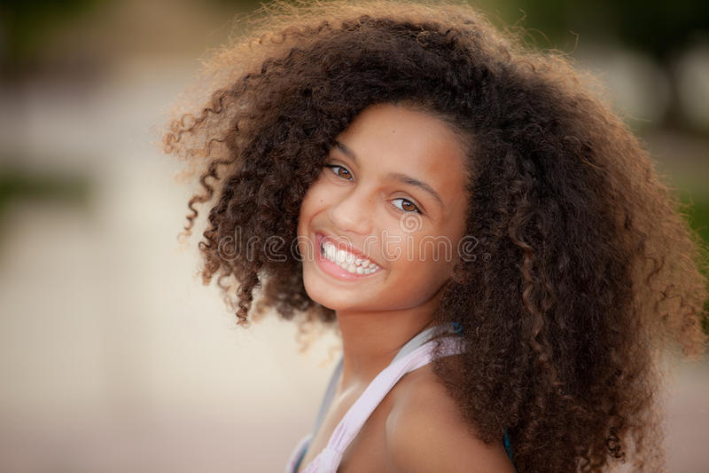 Enfant d'origine africaine image stock