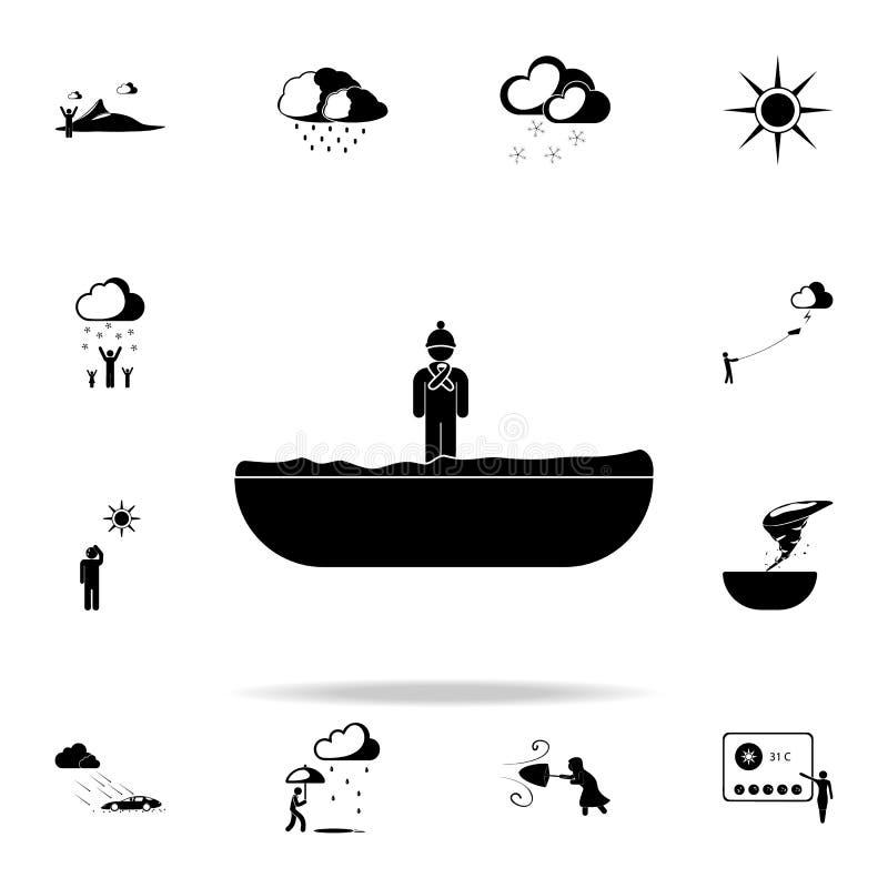 enfant dans l'icône de signe de neige Survivez à l'ensemble universel d'icônes pour le Web et le mobile illustration libre de droits