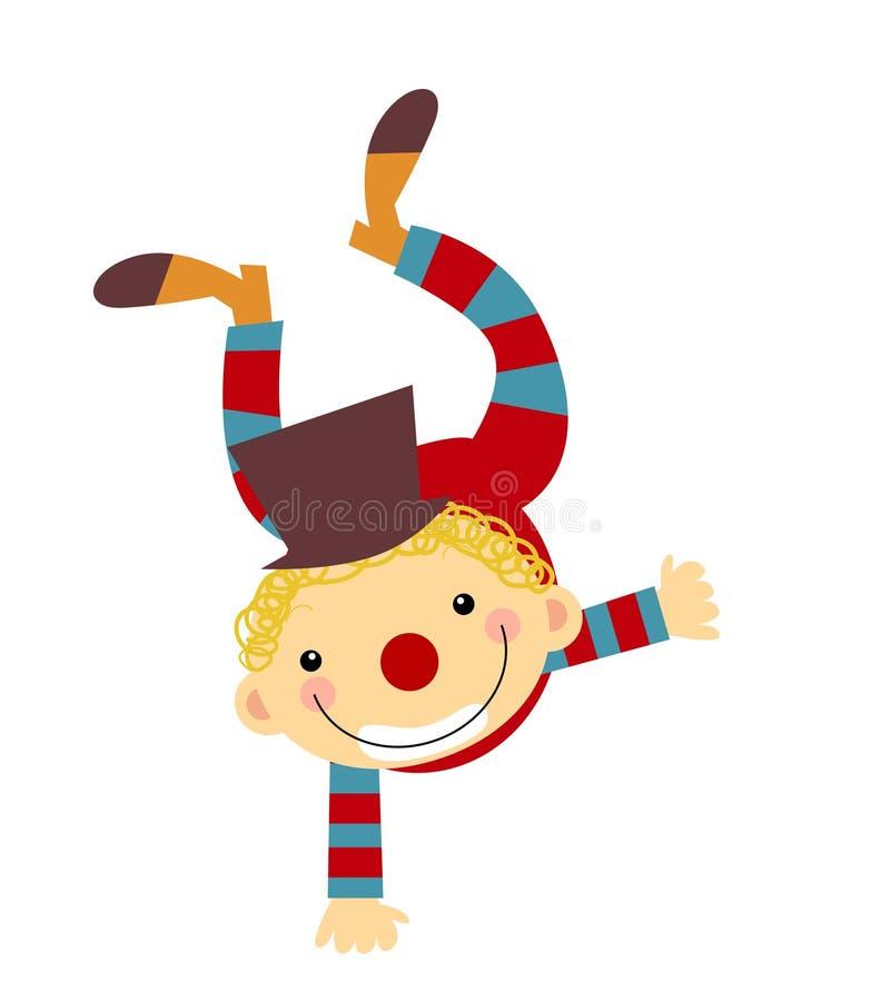 Enfant dans le costume de clown illustration libre de droits