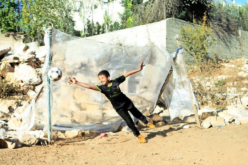 Enfant dans Rammallah photo libre de droits