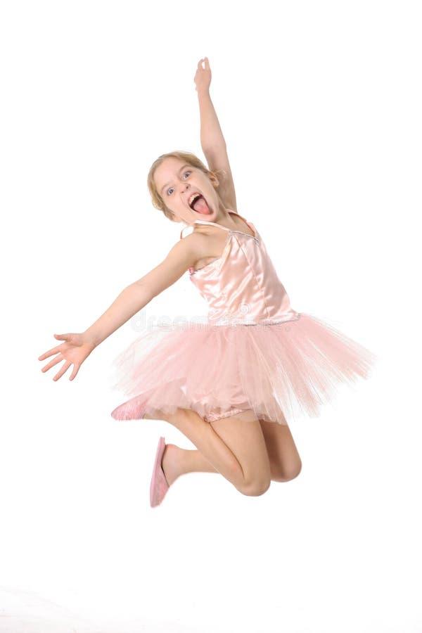 Enfant de ballet effectuant un visage fou images libres de droits