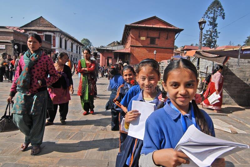 Enfant de fille au Népal photos libres de droits