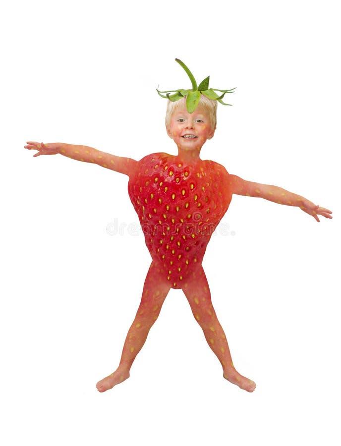 Enfant de fraise images libres de droits