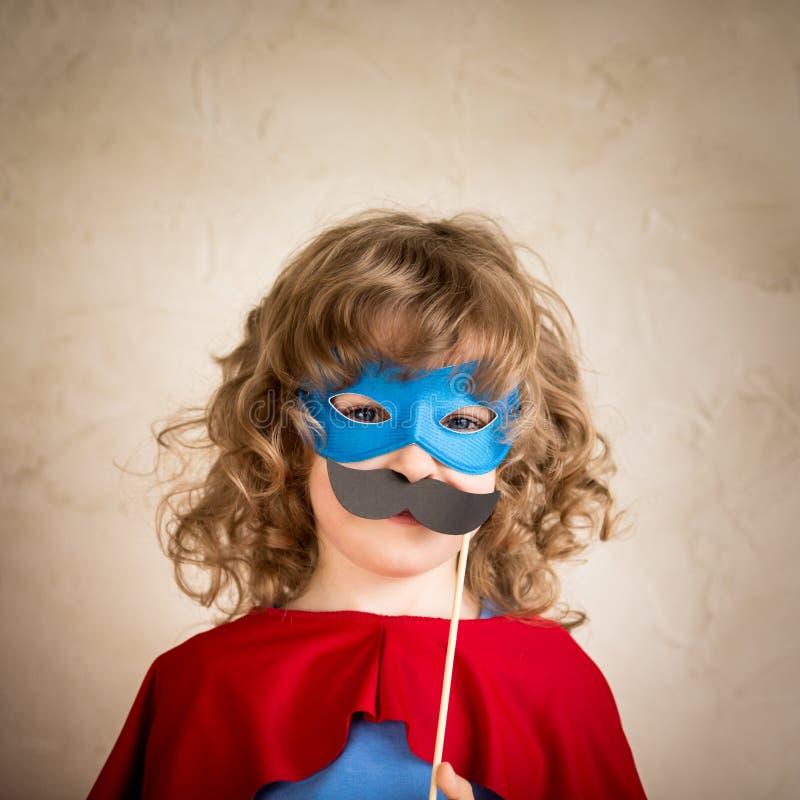 Enfant de hippie de super héros photos libres de droits