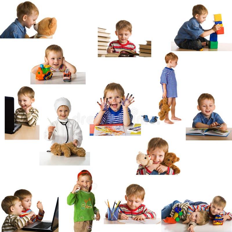 Enfant de jeu réglé photo stock
