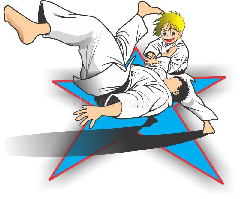 Enfant de judo images stock