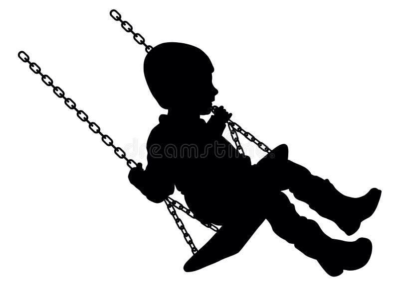 Enfant de oscillation illustration libre de droits
