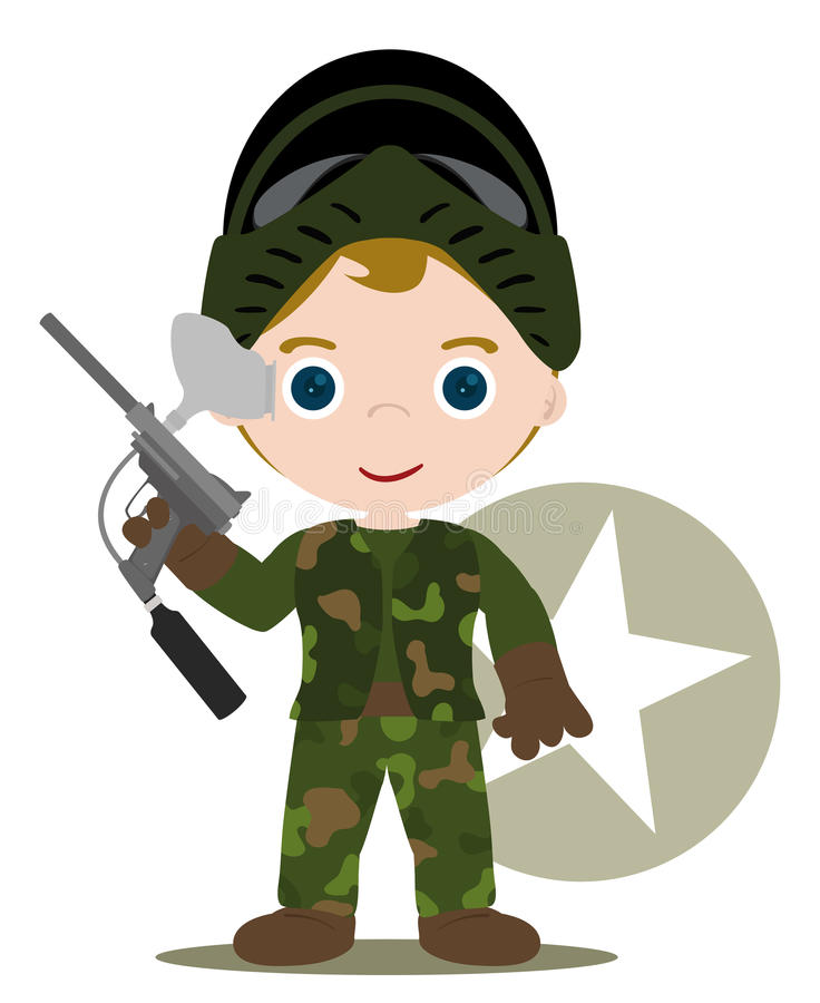 Enfant de Paintball illustration de vecteur