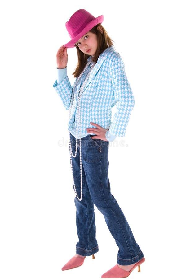 Enfant de pose de mode. images stock