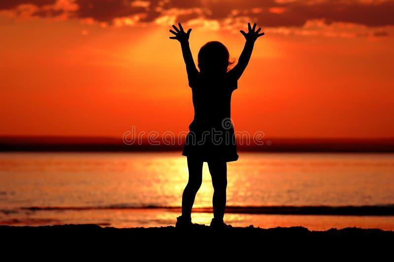 Enfant de silhouette photo libre de droits