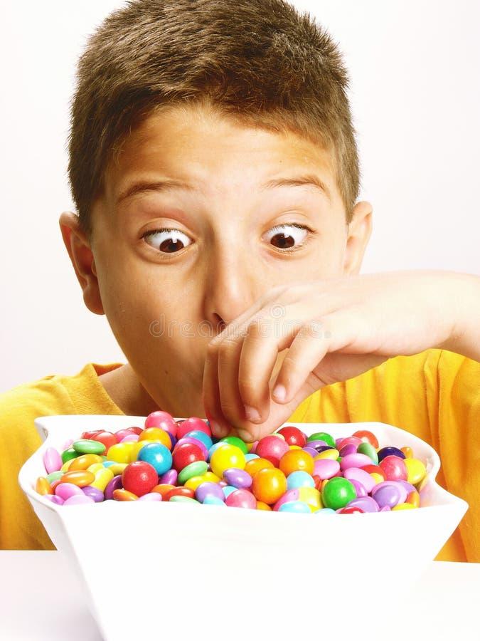 Enfant de sucrerie. image libre de droits