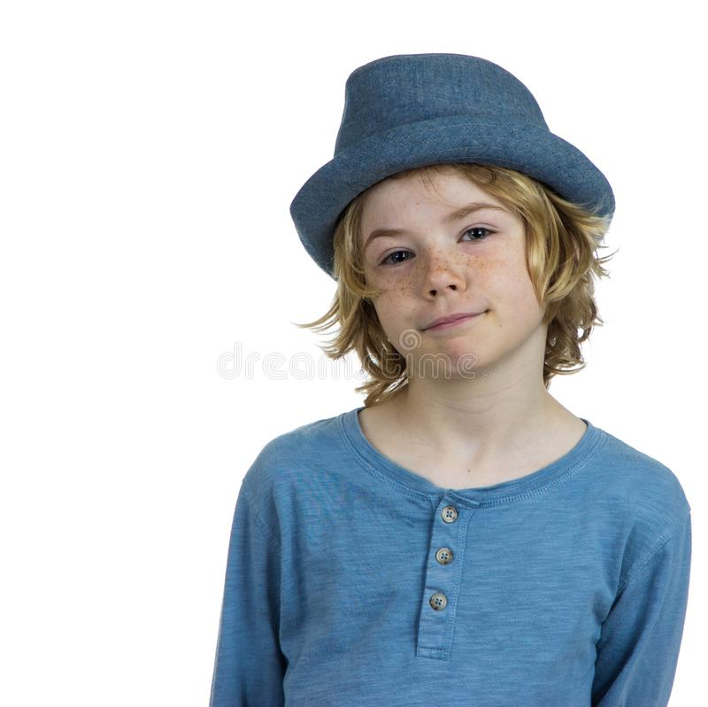 Enfant doy boudant photographie stock