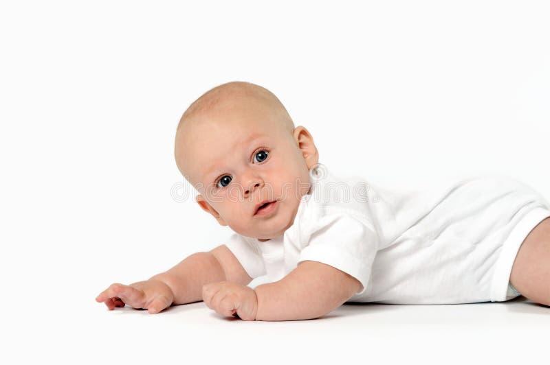 Enfant en bas âge, œil bleu photos stock