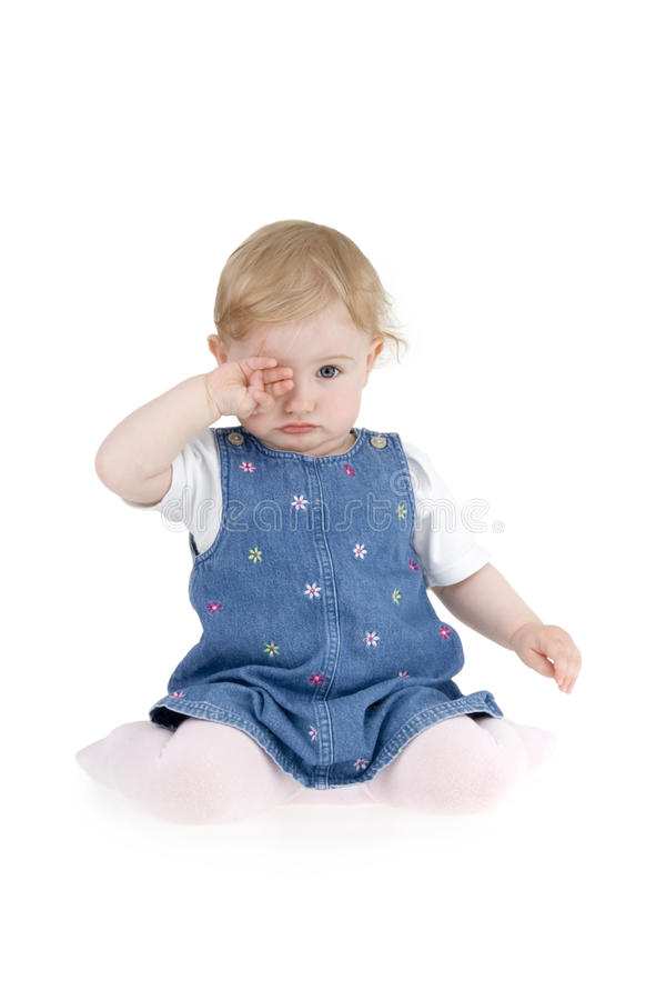 Enfant en bas âge fatigué photographie stock