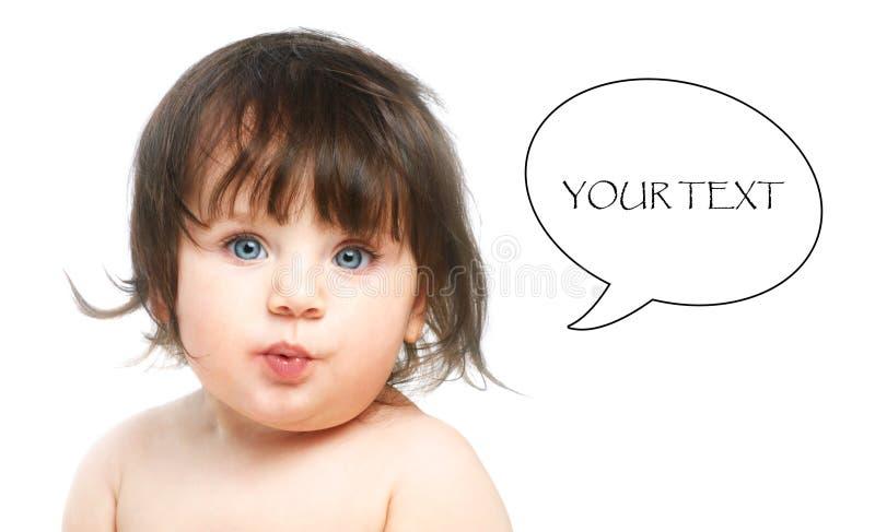 enfant en bas âge observé bleu photographie stock