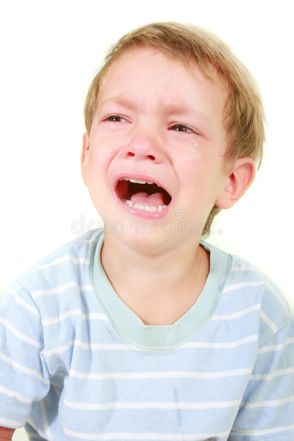 enfant en bas âge pleurant de garçon images stock