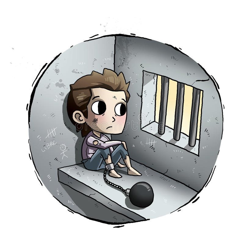 Enfant en prison illustration libre de droits
