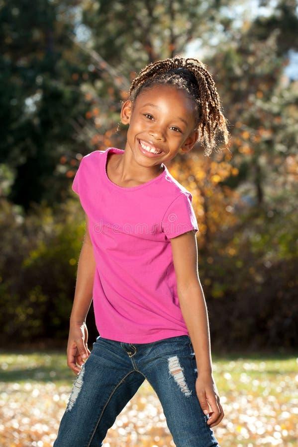 Enfant espiègle d'Afro-américain photographie stock