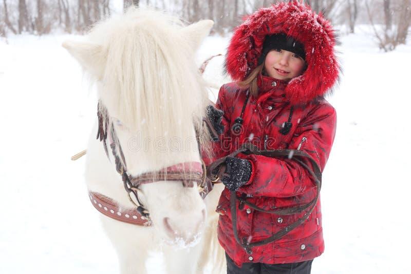 Enfant et cheval images libres de droits