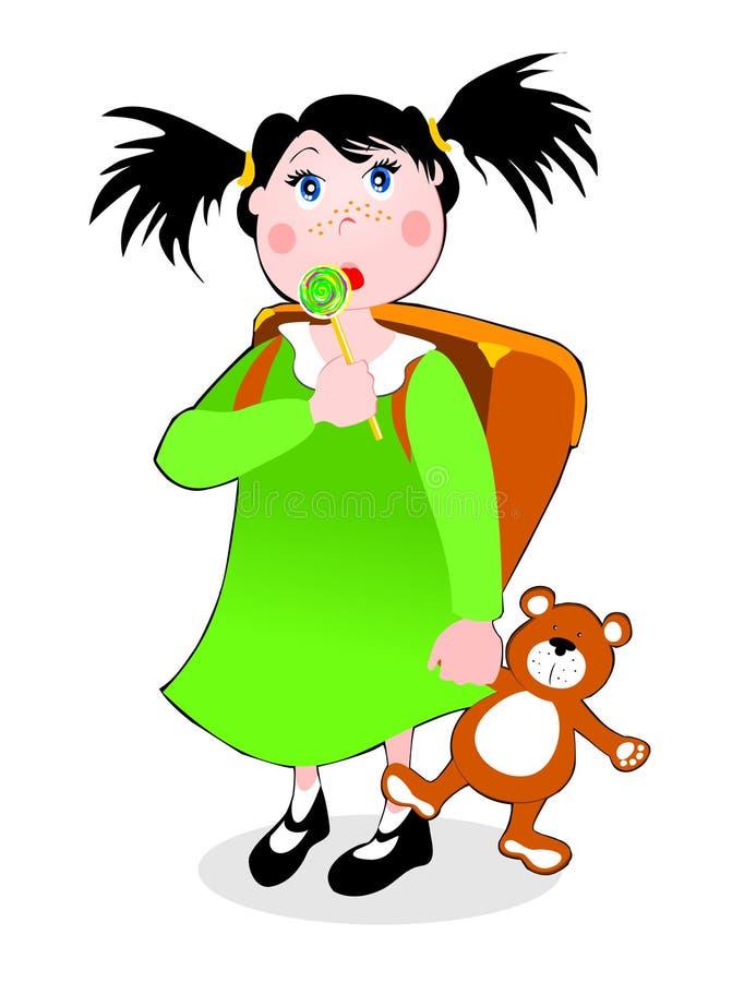 Enfant et lucette illustration de vecteur
