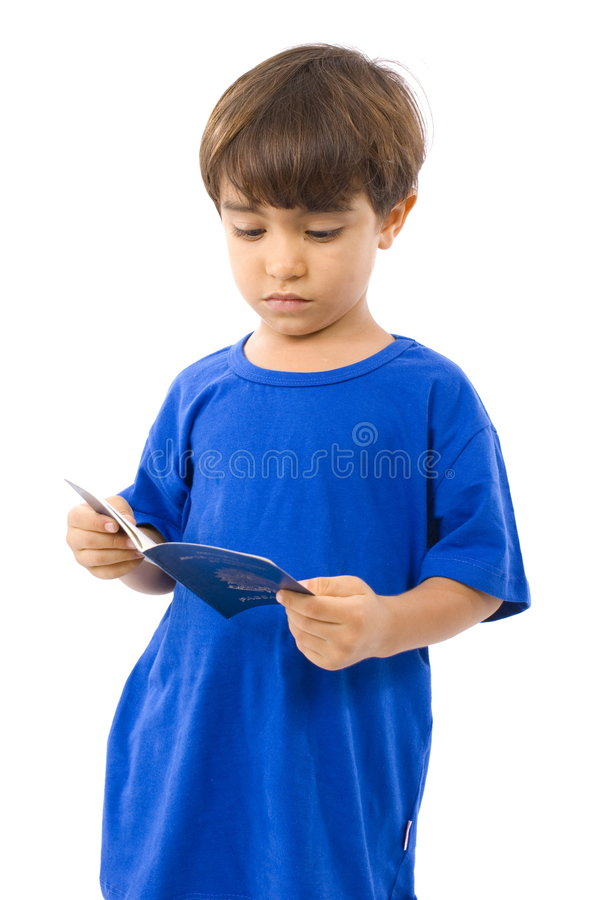 Enfant et passeport images stock