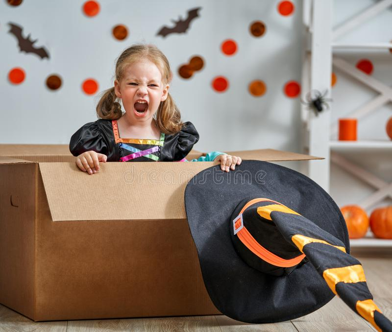 Enfant Halloween image stock
