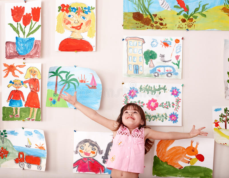 Enfant heureux avec l'illustration. photographie stock libre de droits