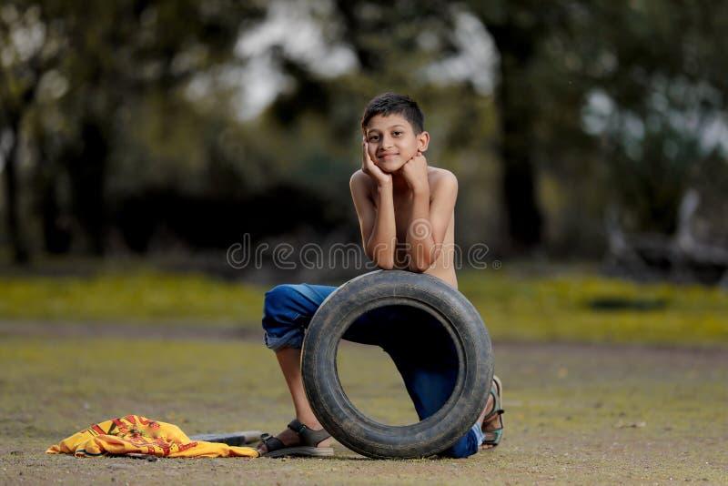 Enfant indien rural photo libre de droits
