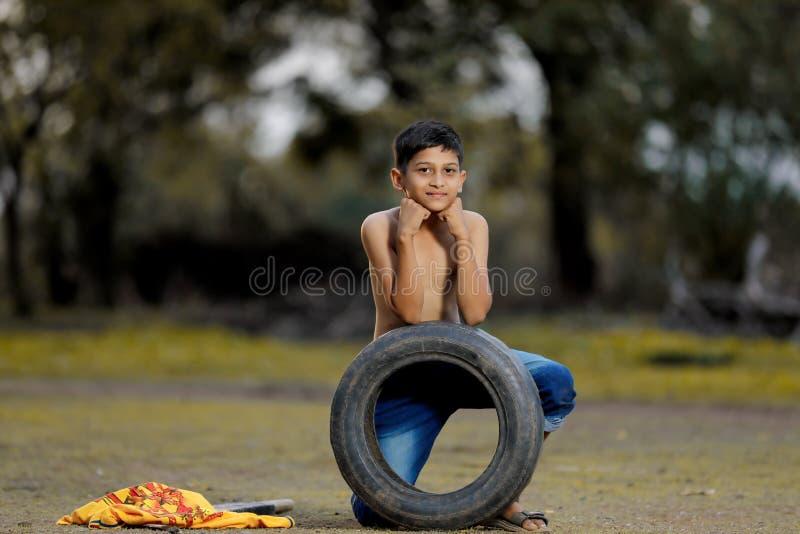 Enfant indien rural images libres de droits