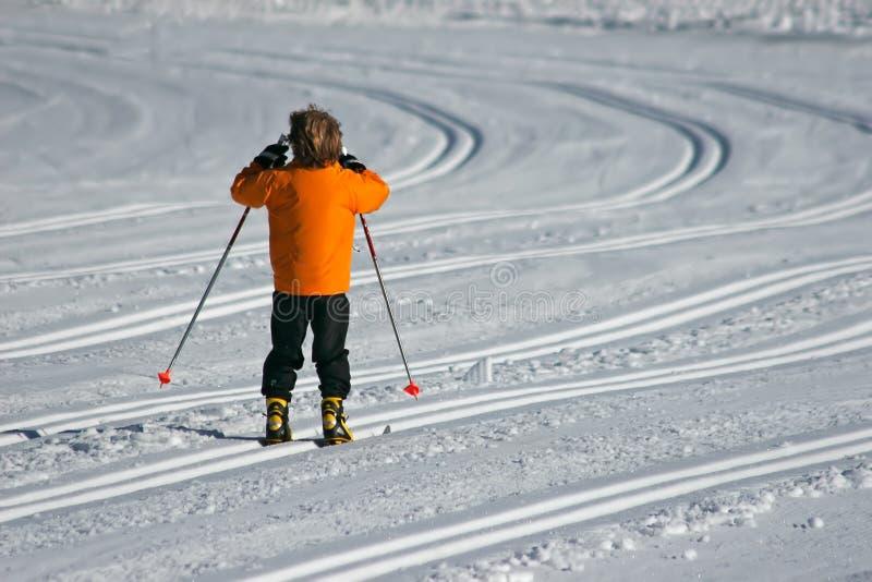 Enfant pendant l'hiver photographie stock libre de droits