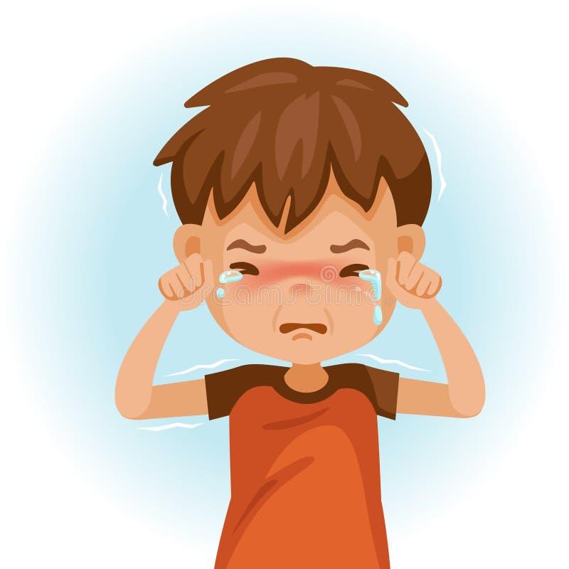 Enfant pleurant illustration stock