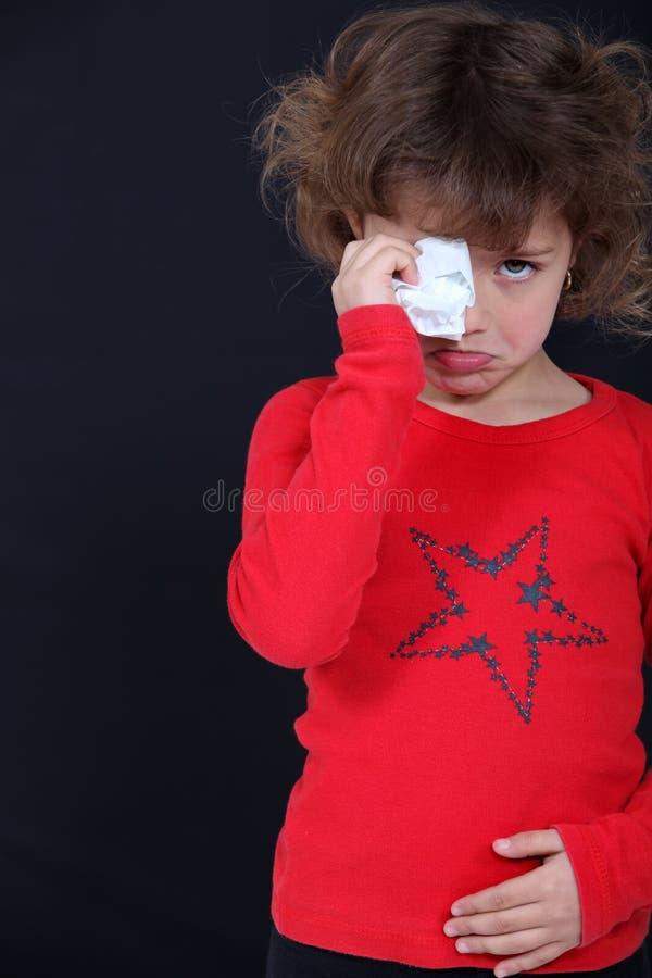 Enfant pleurant photographie stock