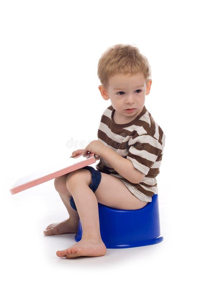 enfant potty photographie stock