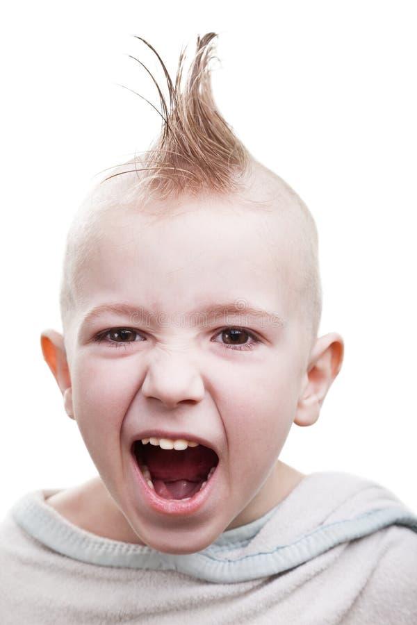 Enfant punk de cheveu photo libre de droits