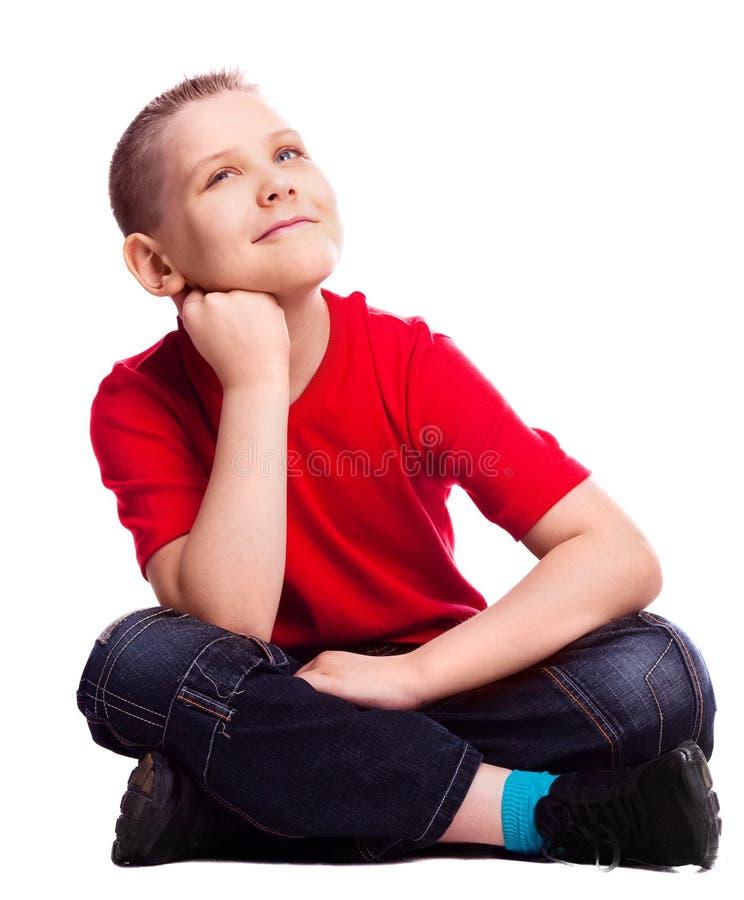 Enfant rêveur image libre de droits
